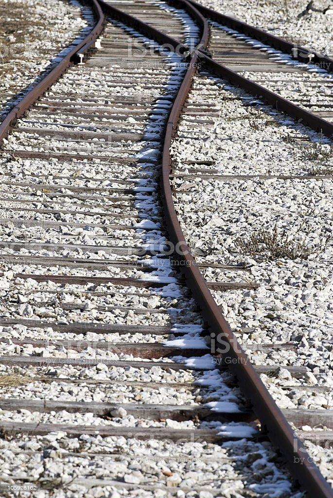 Railways or Railroads, Train royalty-free stock photo
