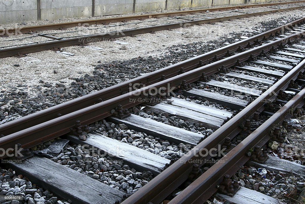 railways tracks royalty-free stock photo