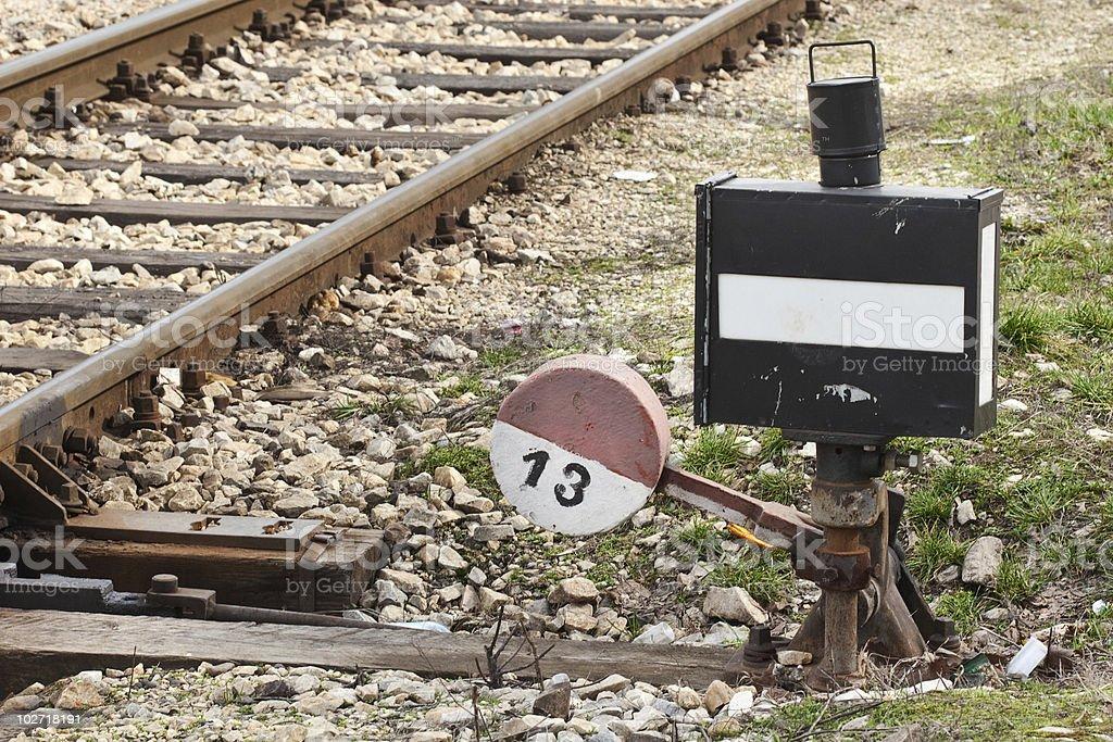railwayswitch royalty-free stock photo