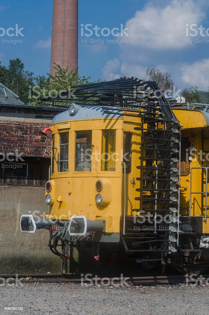 Railway,Tunnel measuring carriage or tunnel hedgehog, stock photo