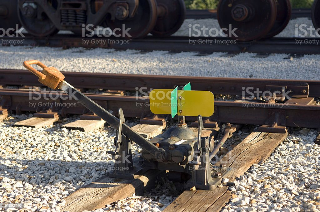 Railyard Manual Switch Lever royalty-free stock photo