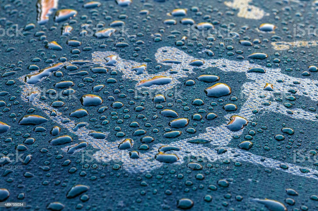 rain and heart stock photo