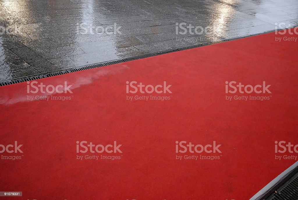 Rain and Red Carpet royalty-free stock photo
