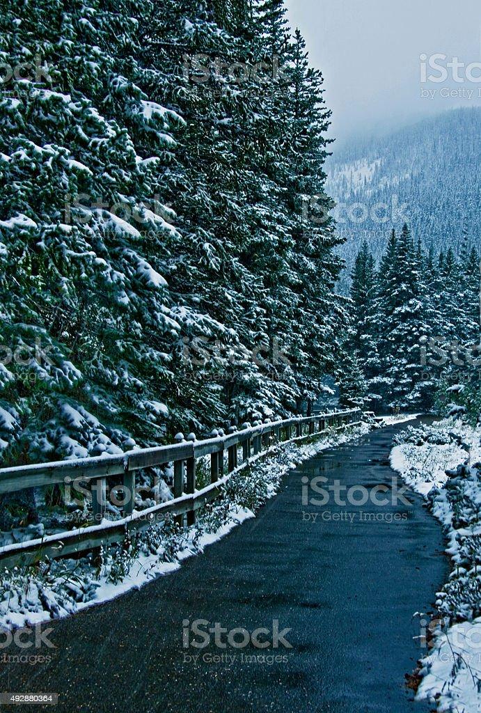 Rain and Snow stock photo