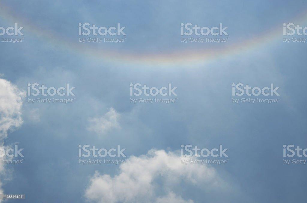 rain around sun stock photo