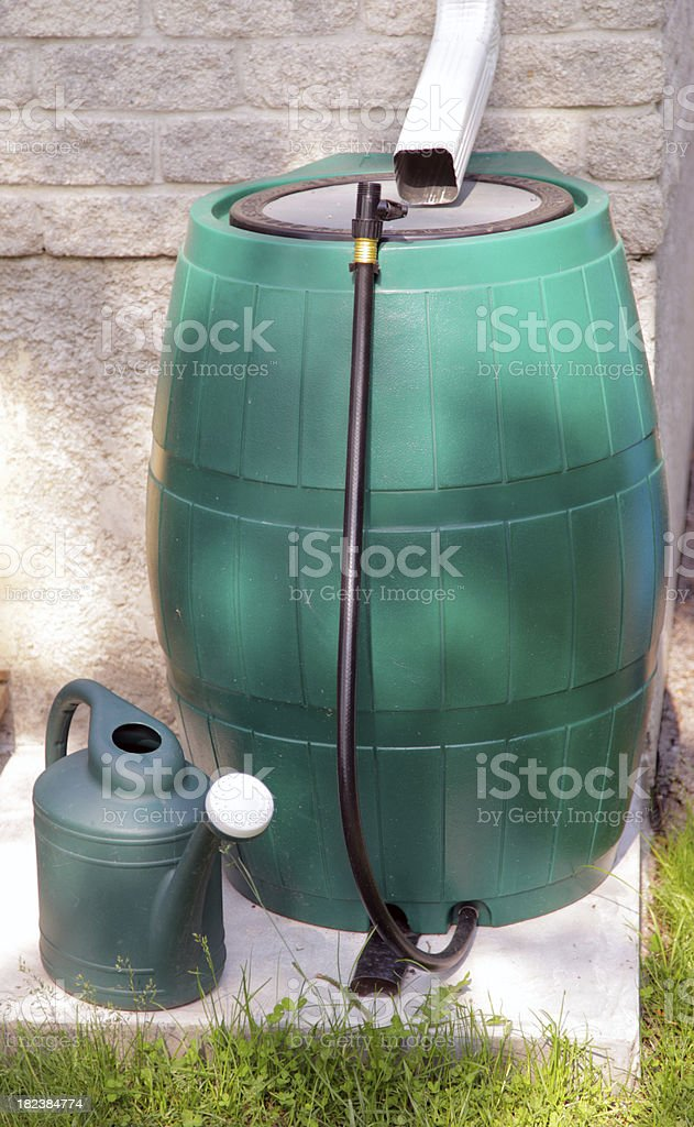 Rain Barrel stock photo