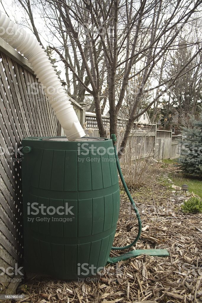 Rain Barrel royalty-free stock photo