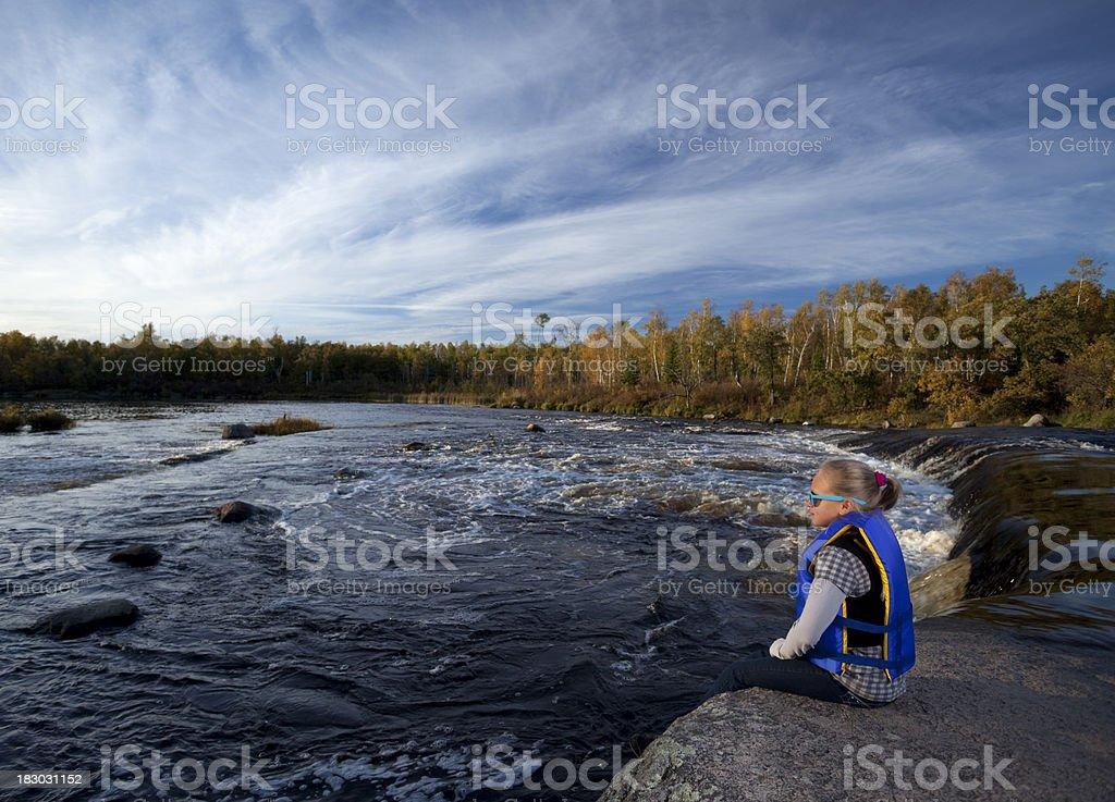 Rain Bow Falls Manitoba stock photo