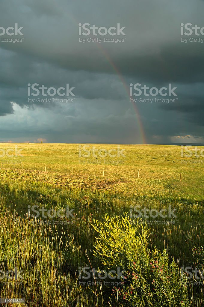 Rain Breaks for a Rainbow stock photo