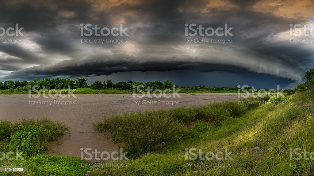 Rain Brewing stock photo