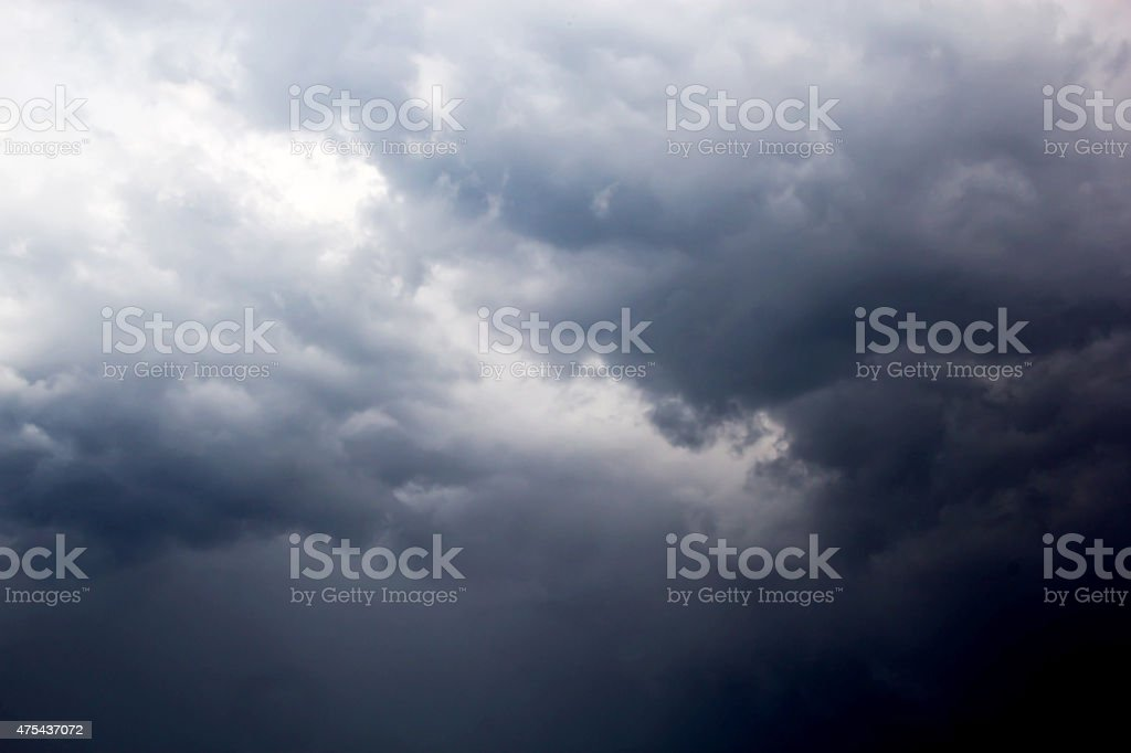 rain cloud stock photo