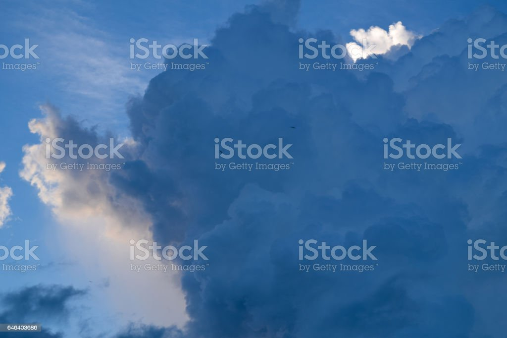 rain clouds after storm or Stratocumulus clouds stock photo