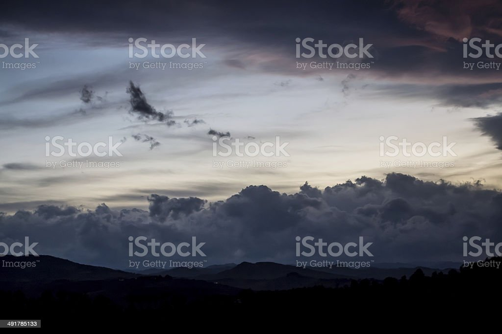 Rain clouds over Italy stock photo