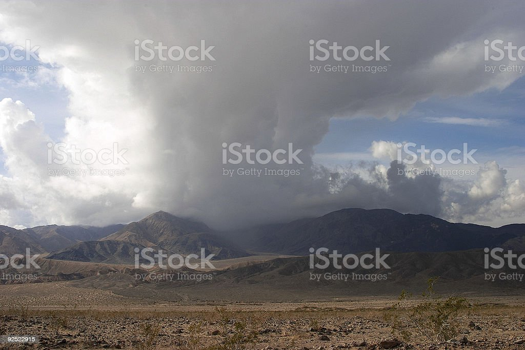 Rain Clouds Over Mountain royalty-free stock photo