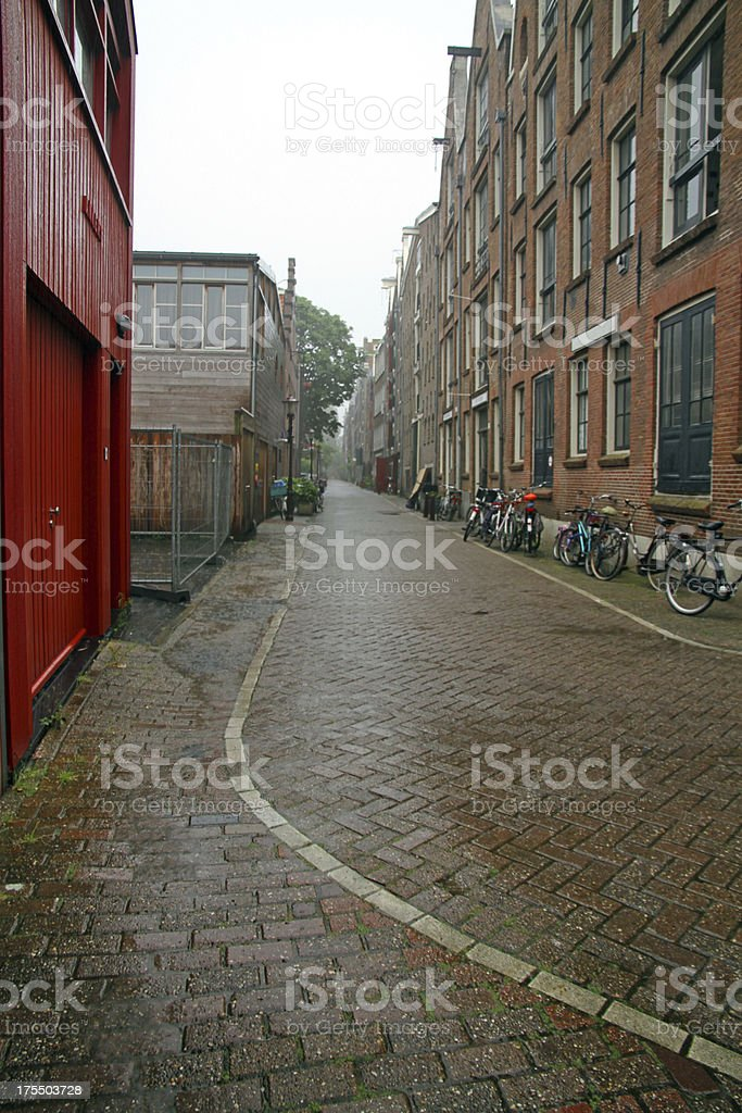 Rain Drenched Amsterdam royalty-free stock photo