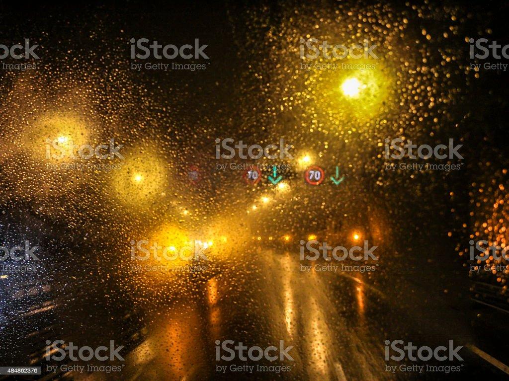 rain drop on car stock photo