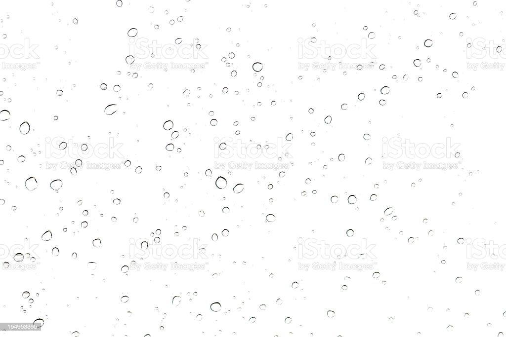 rain drop on glass stock photo
