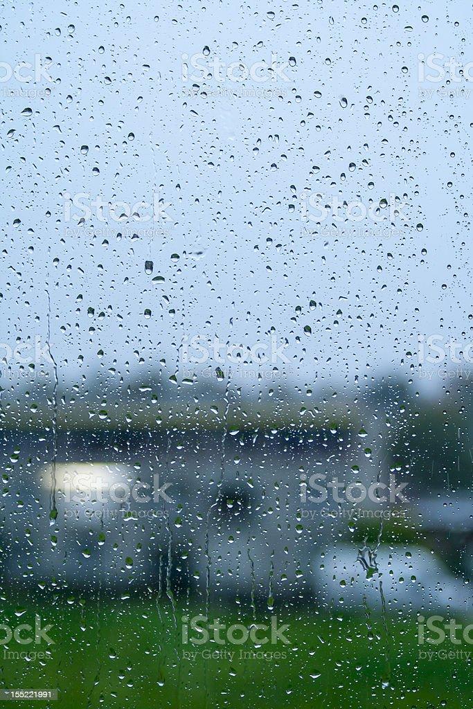 rain drops on window royalty-free stock photo