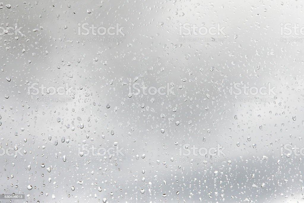 Rain drops on window stock photo