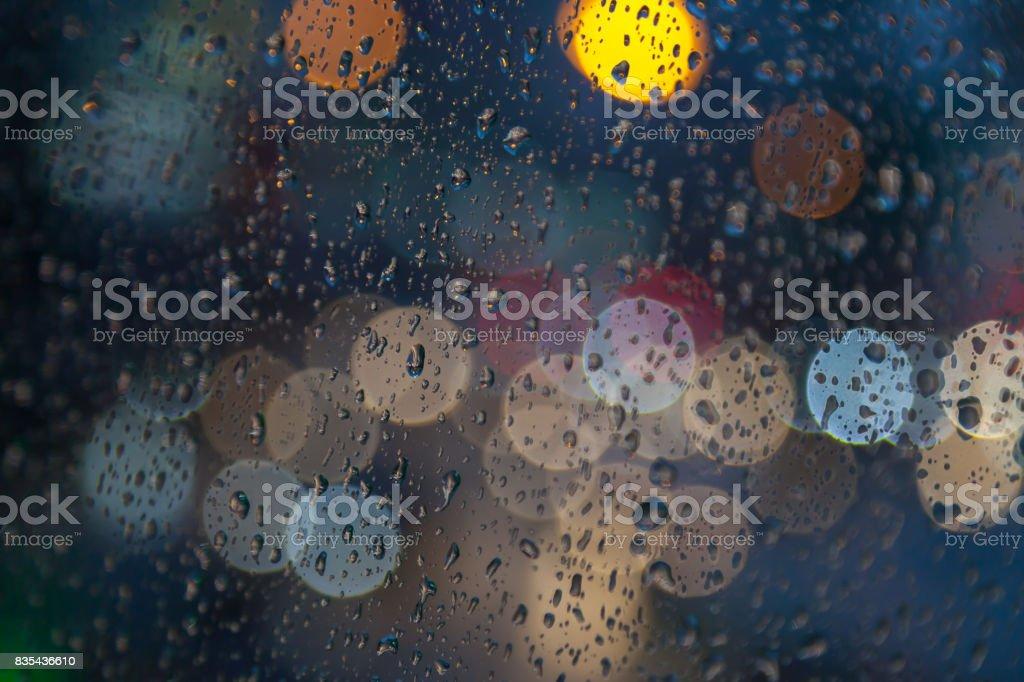 Rain drops stock photo