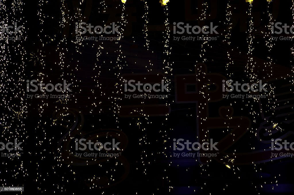 rain fireworks stock photo