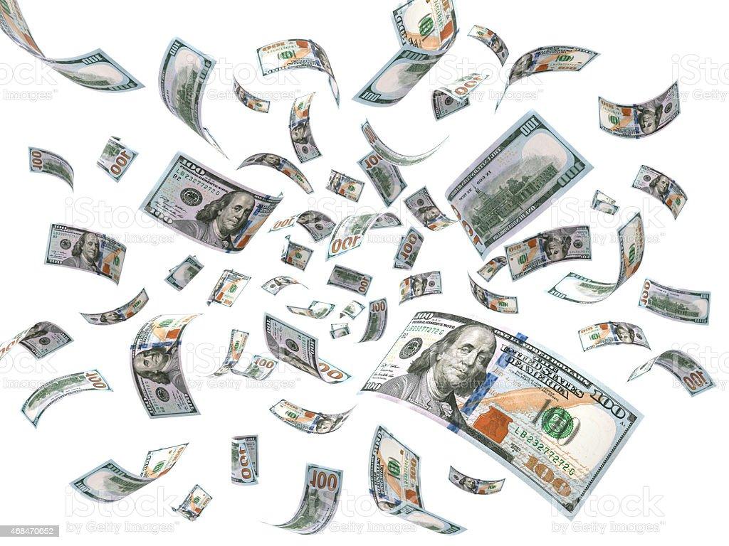 Rain from Dollars stock photo
