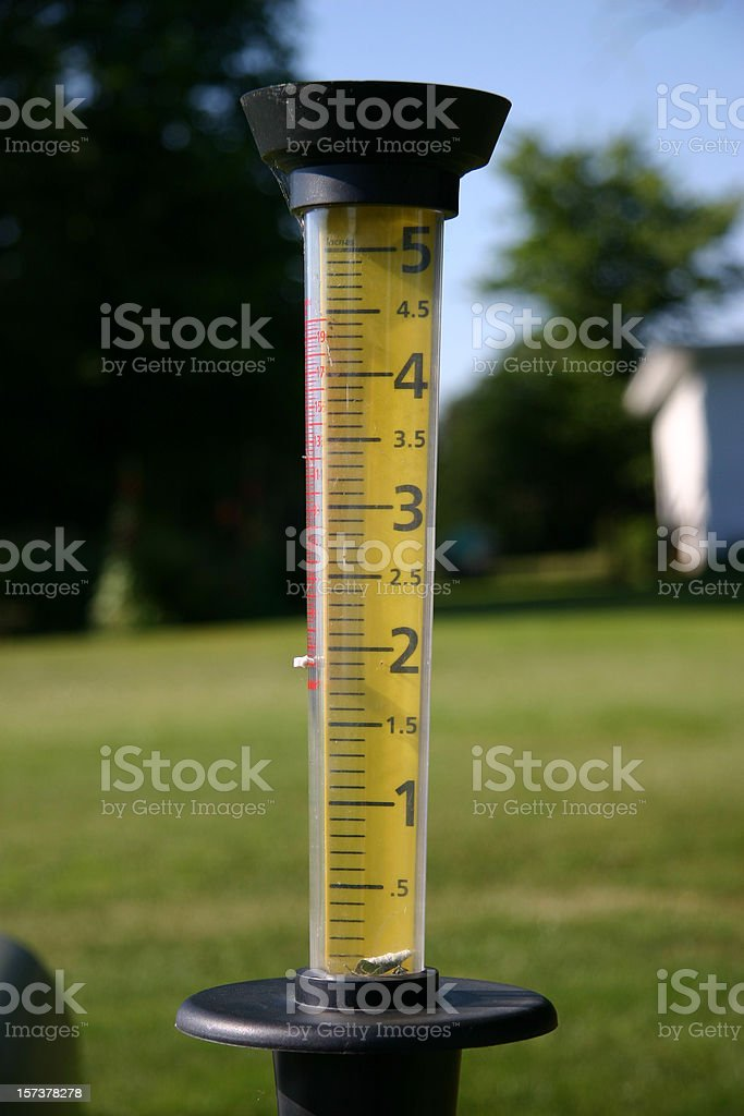 Rain Gauge In The Garden Pictures Images and Stock Photos iStock