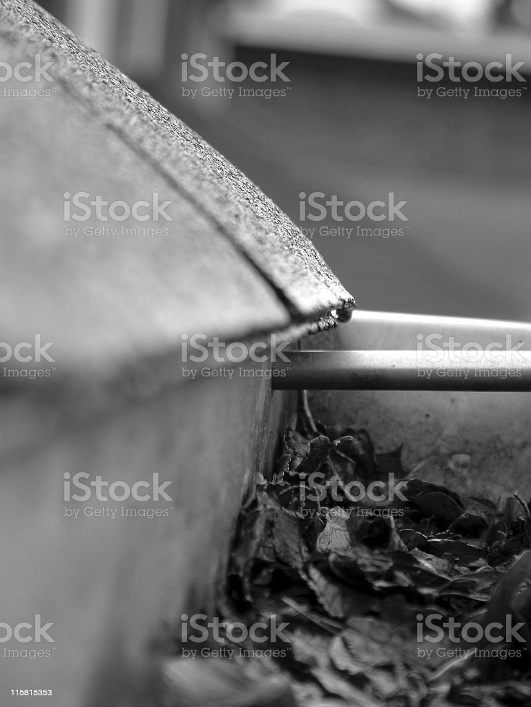 Rain Gutter 2 stock photo