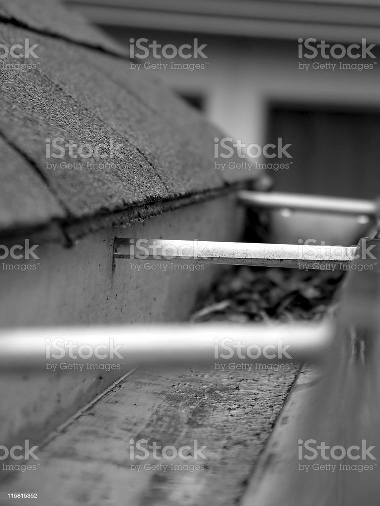 Rain Gutter stock photo