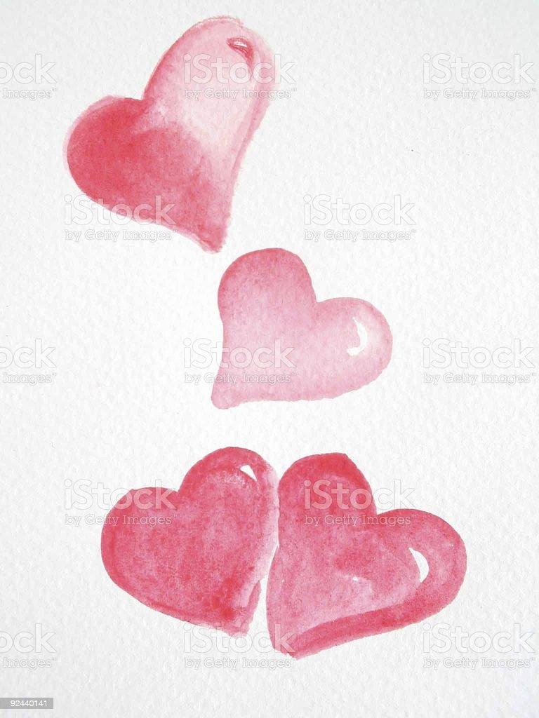 rain hearts royalty-free stock photo