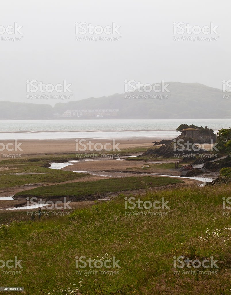 Rain in Barmouth stock photo
