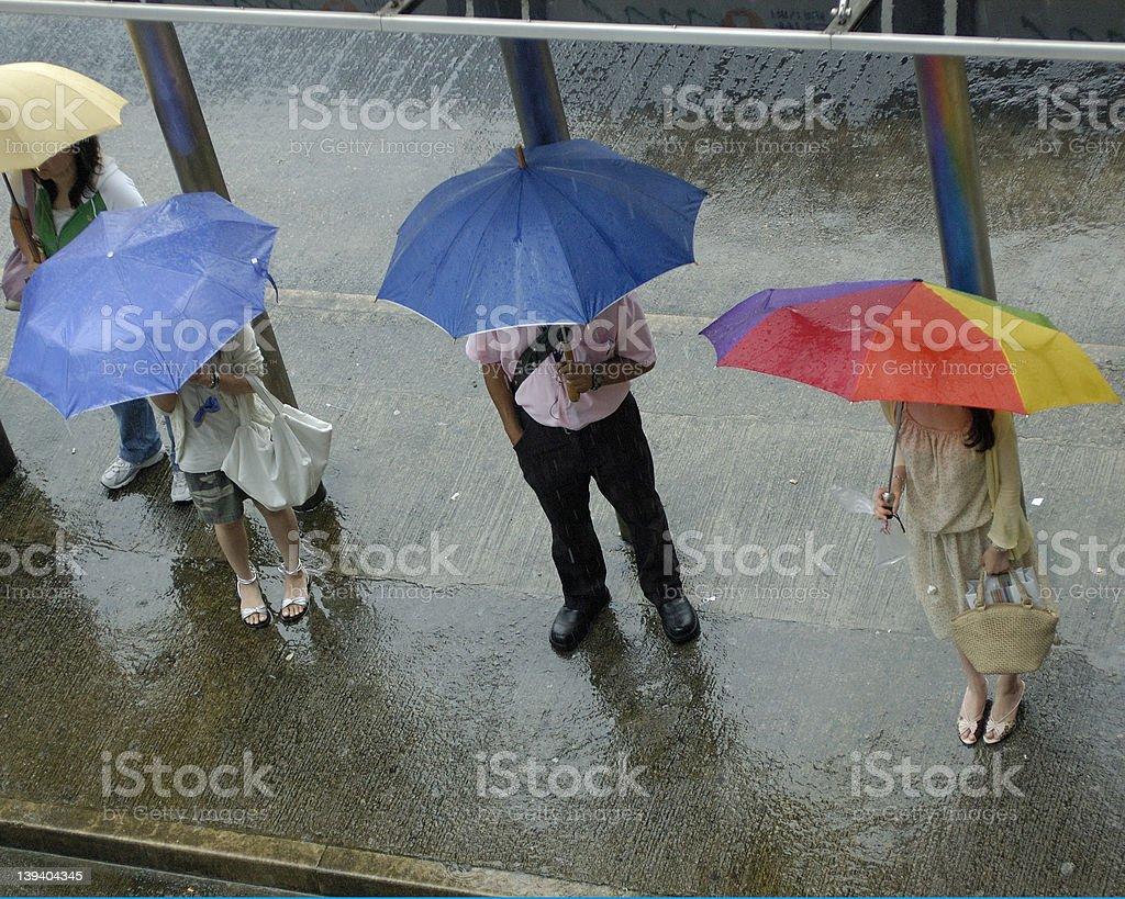 rain in hong kong royalty-free stock photo