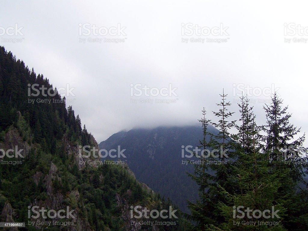 Rain In Mountain stock photo