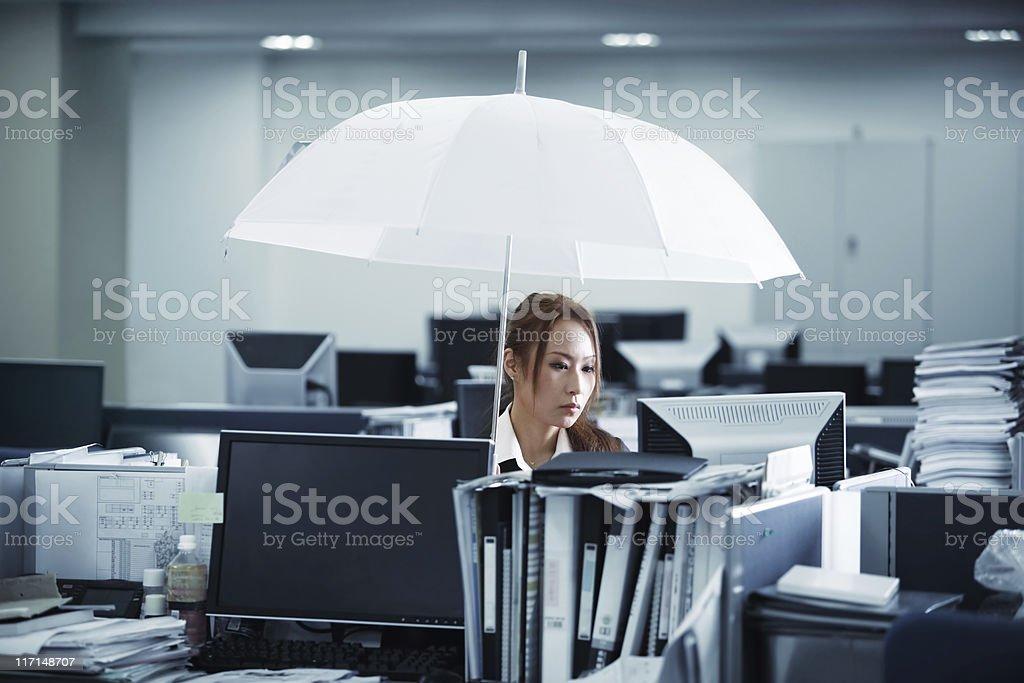 Rain in Office royalty-free stock photo