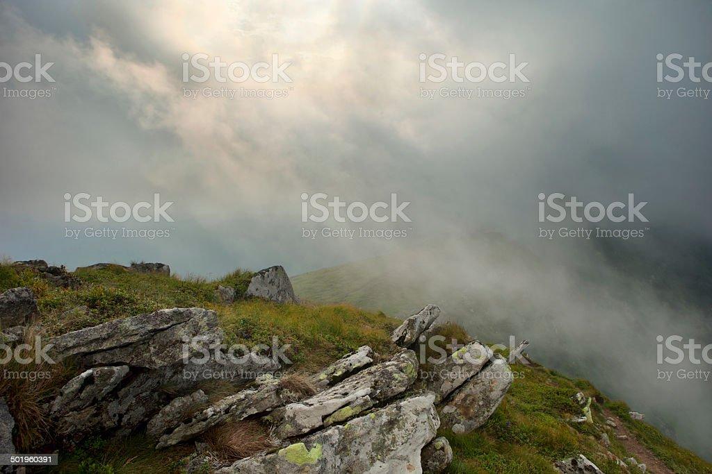 Rain in the Carpathians royalty-free stock photo