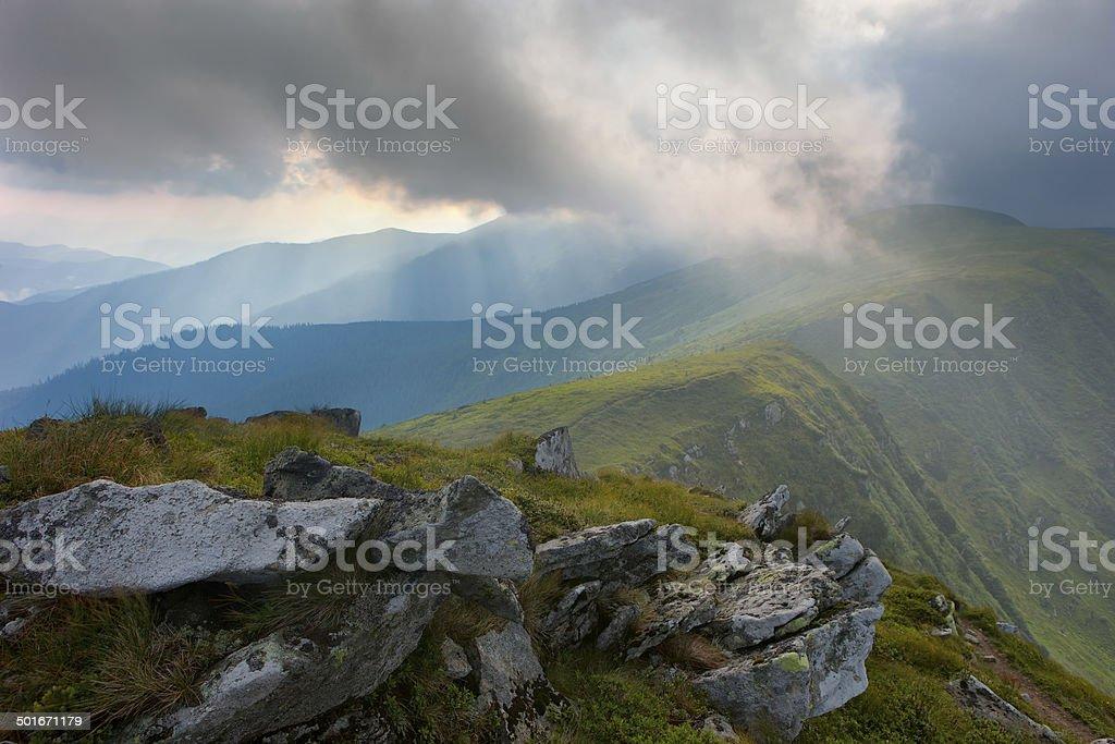 Rain in the Mountains royalty-free stock photo