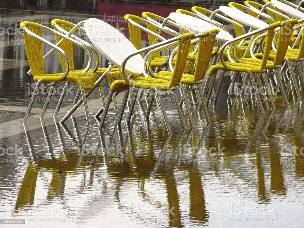 Rain in Venice royalty-free stock photo