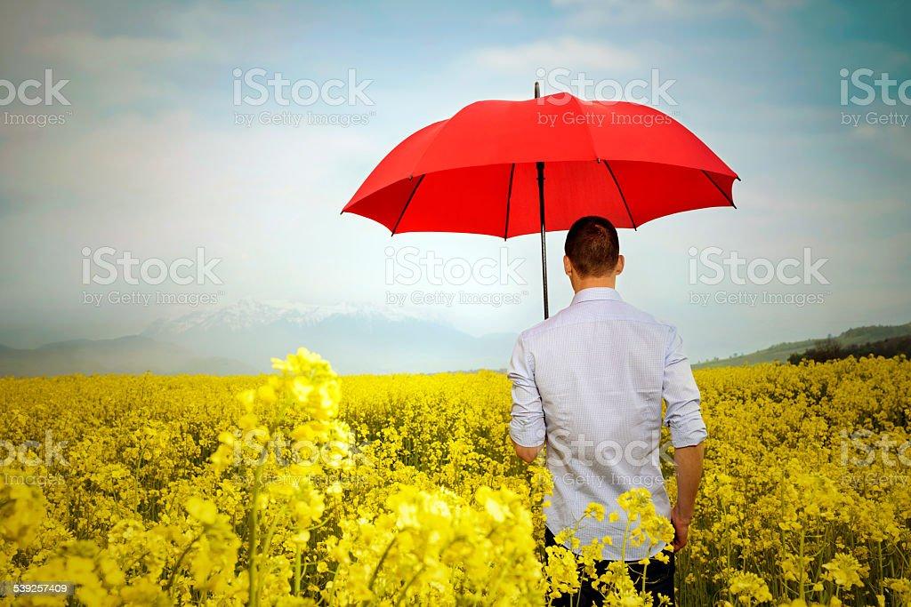 rain is coming stock photo