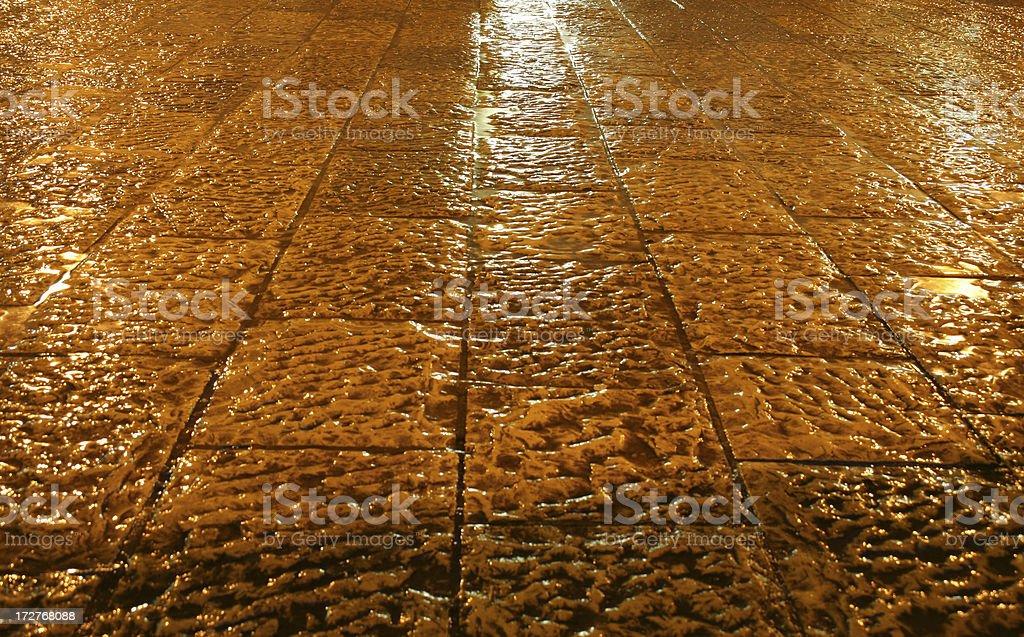 Rain night stock photo