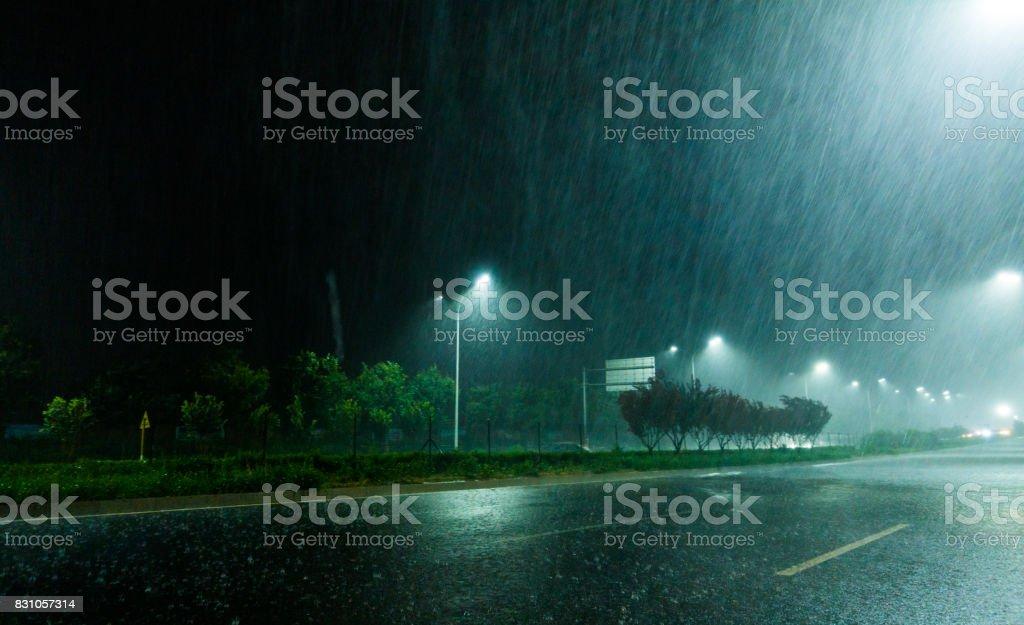 Rain night
