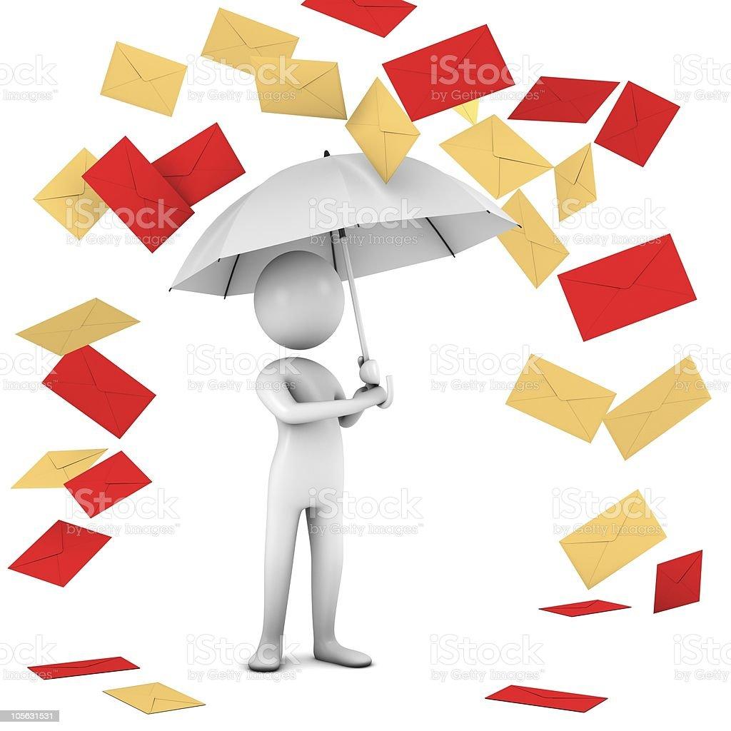 Rain Of Mail. stock photo