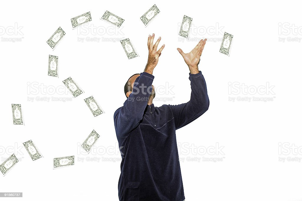 Rain of Money stock photo