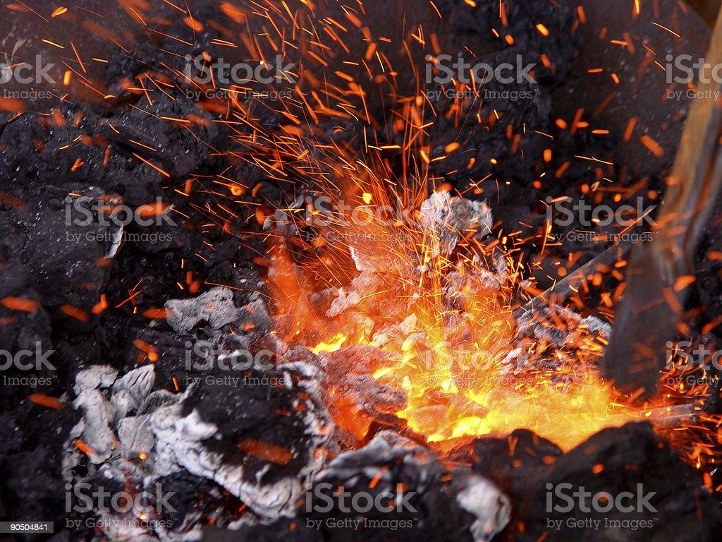 rain of sparks stock photo