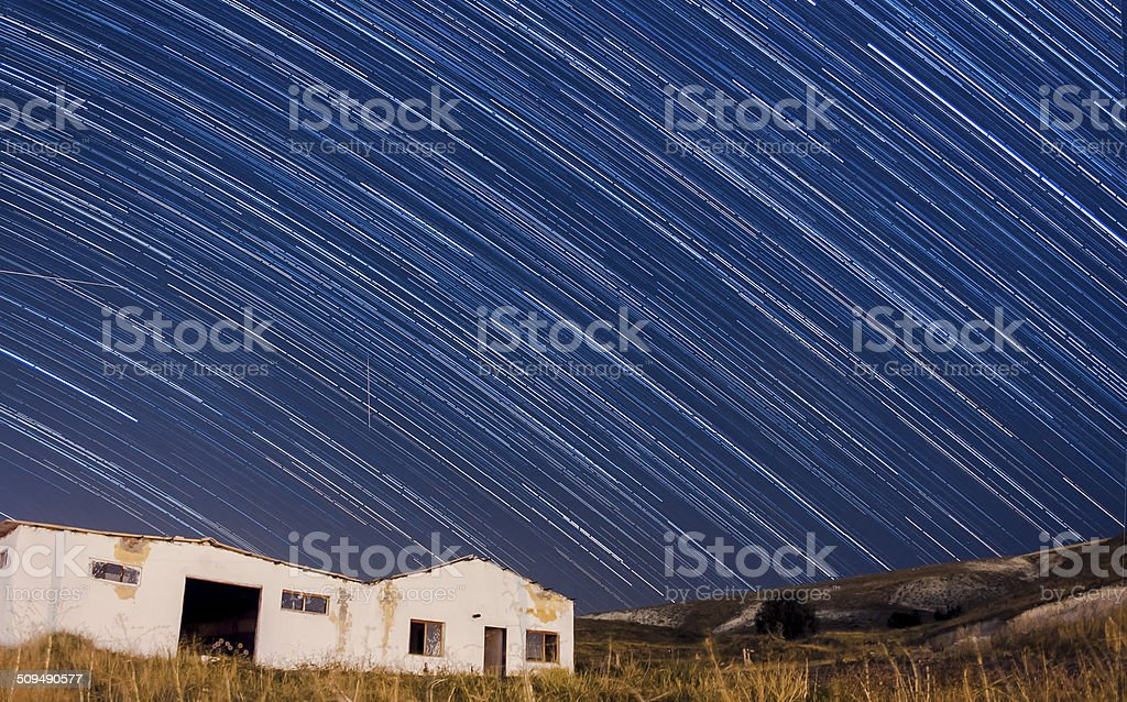 Rain of Stars and a shooting star royalty-free stock photo
