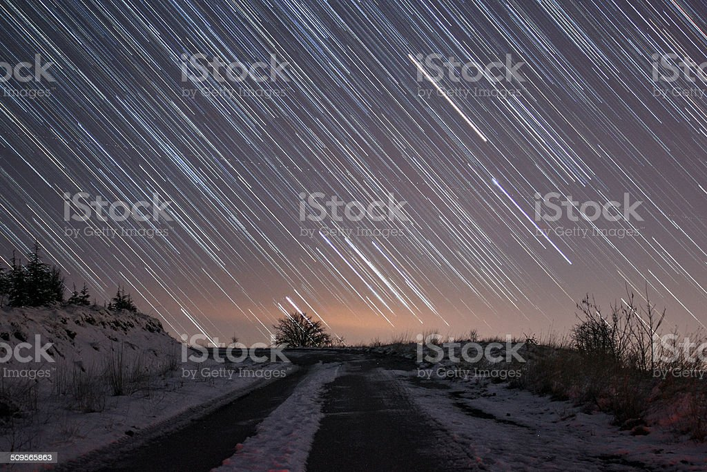 Rain of Stars royalty-free stock photo