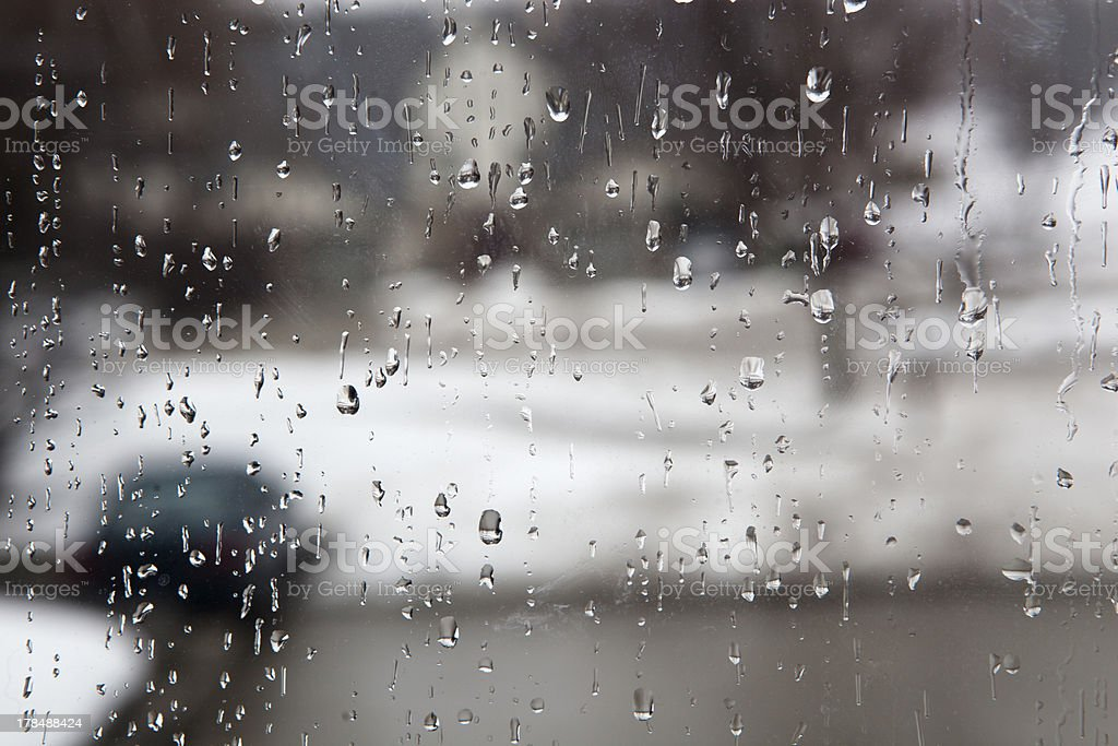 Rain on a window royalty-free stock photo