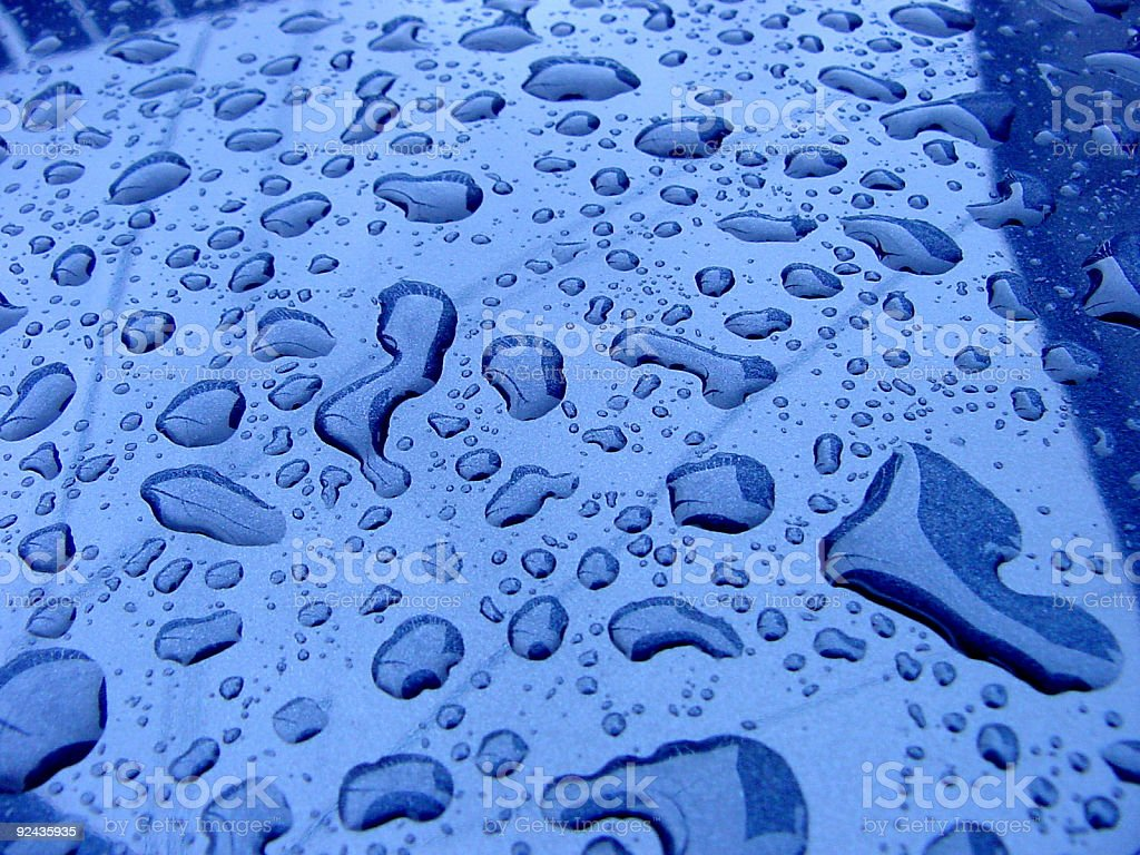 Rain on Car Roof royalty-free stock photo