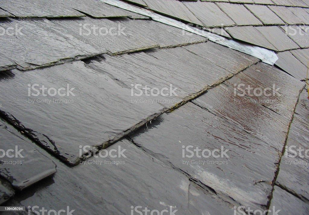 Rain on Slates stock photo