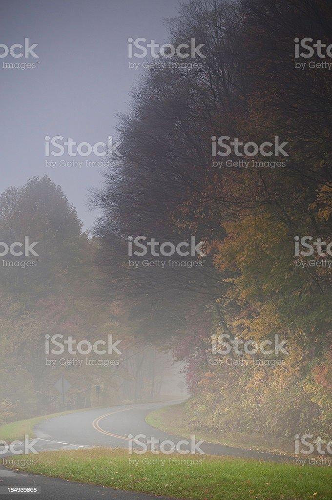 Rain on the Blue Ridge Parkway, North Carolina, USA stock photo