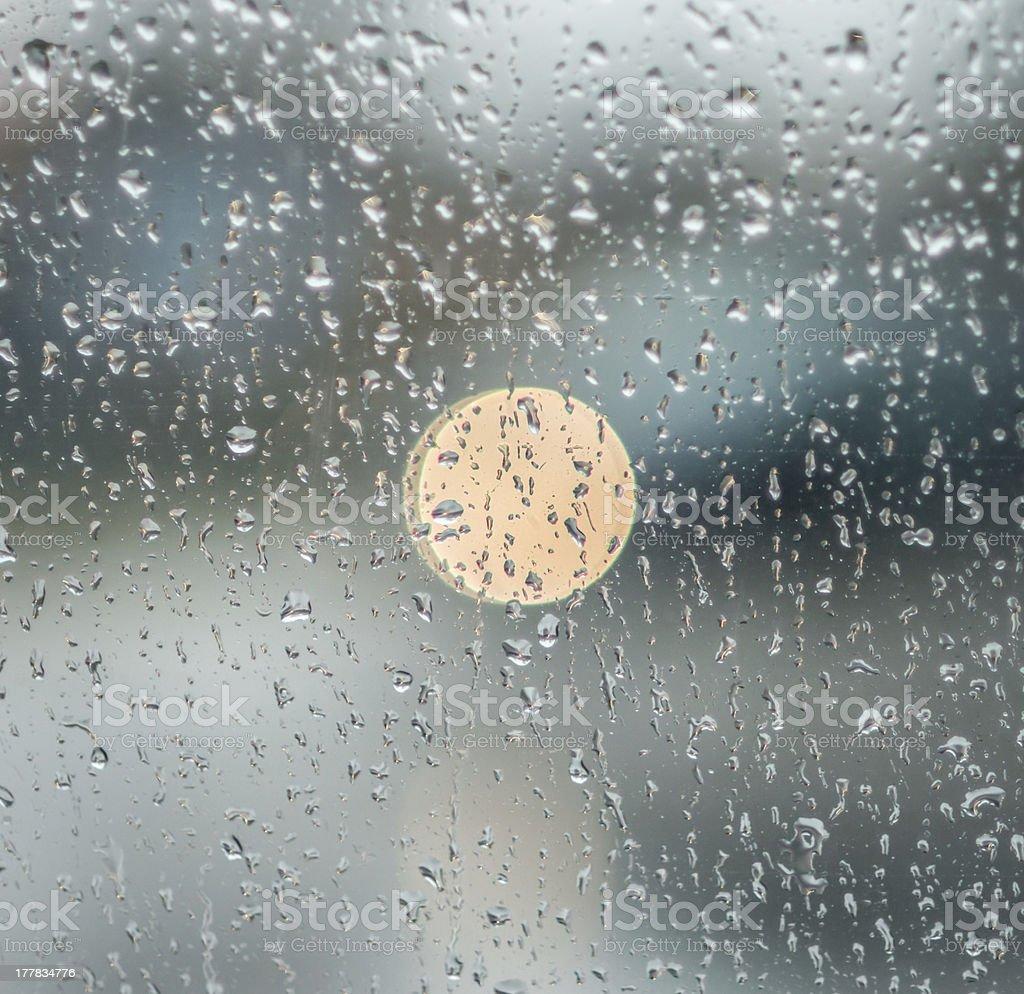 rain on the glass royalty-free stock photo